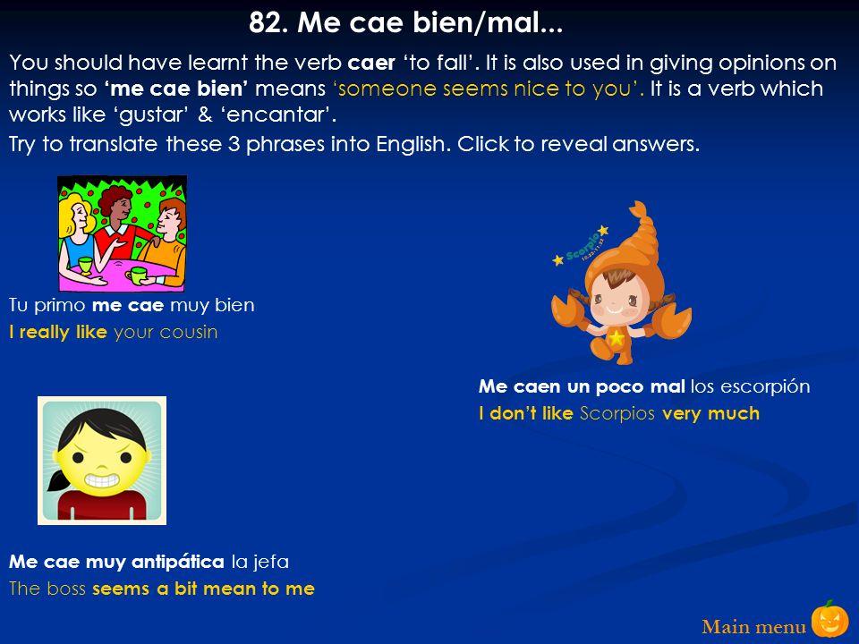 Main menu 81.