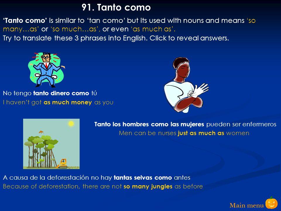 Main menu 90.Tan ….