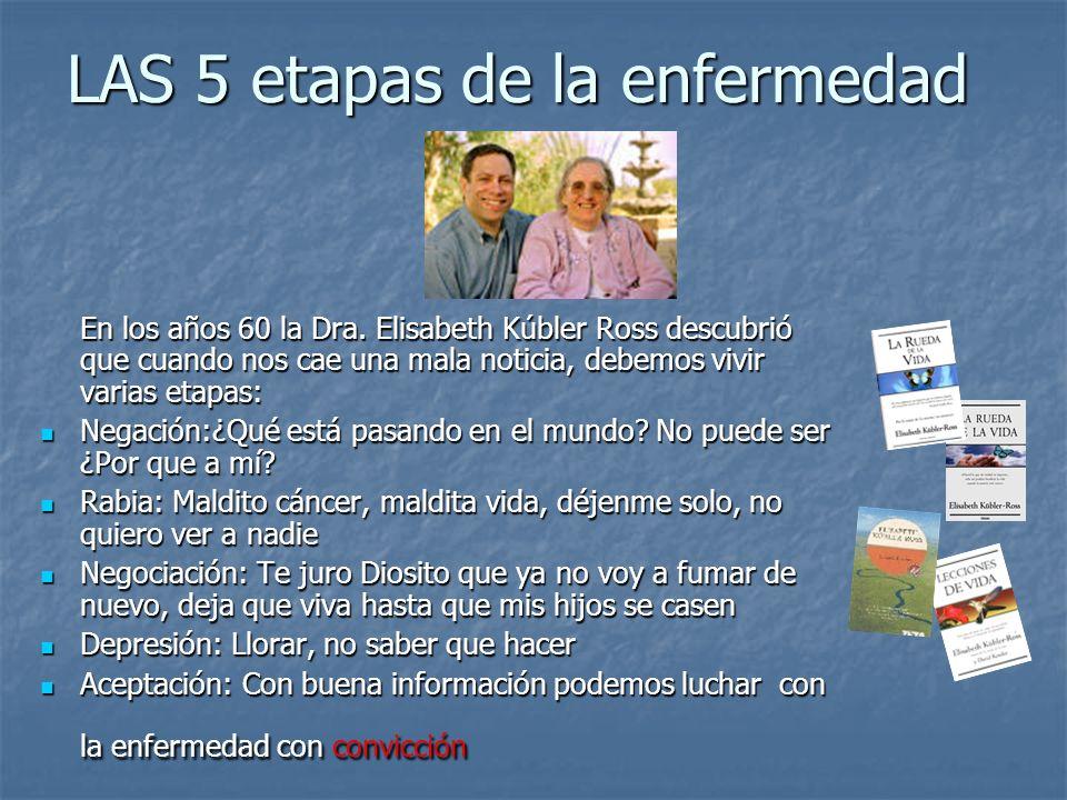 LAS 5 etapas de la enfermedad En los años 60 la Dra.