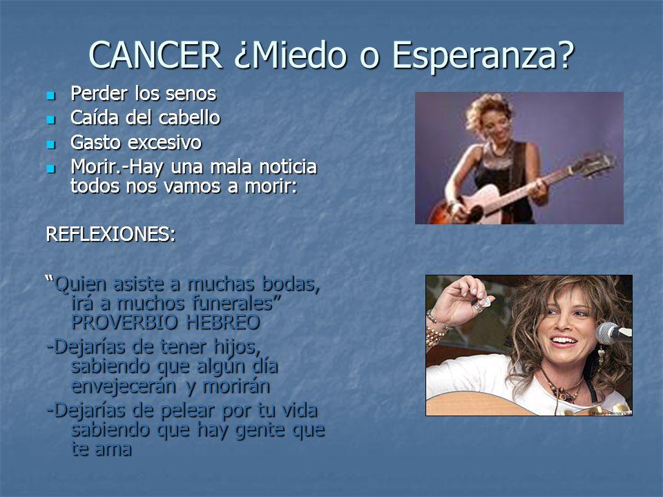 CANCER ¿Miedo o Esperanza.CANCER ¿Miedo o Esperanza.