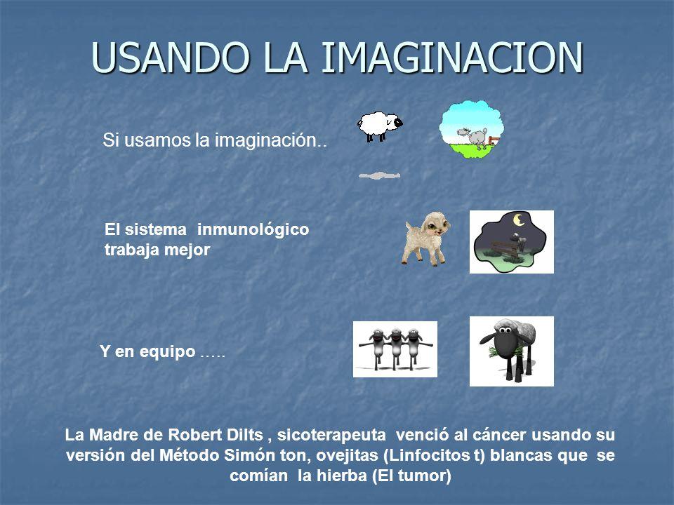 USANDO LA IMAGINACION El sistema inmunológico trabaja mejor Si usamos la imaginación..