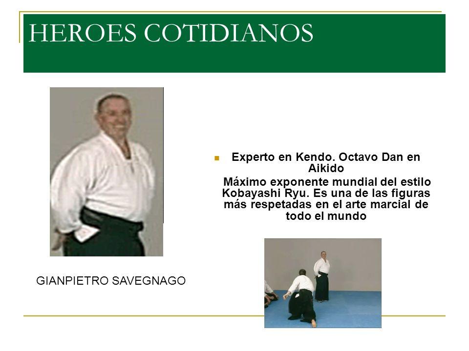 HEROES COTIDIANOS Experto en Kendo.