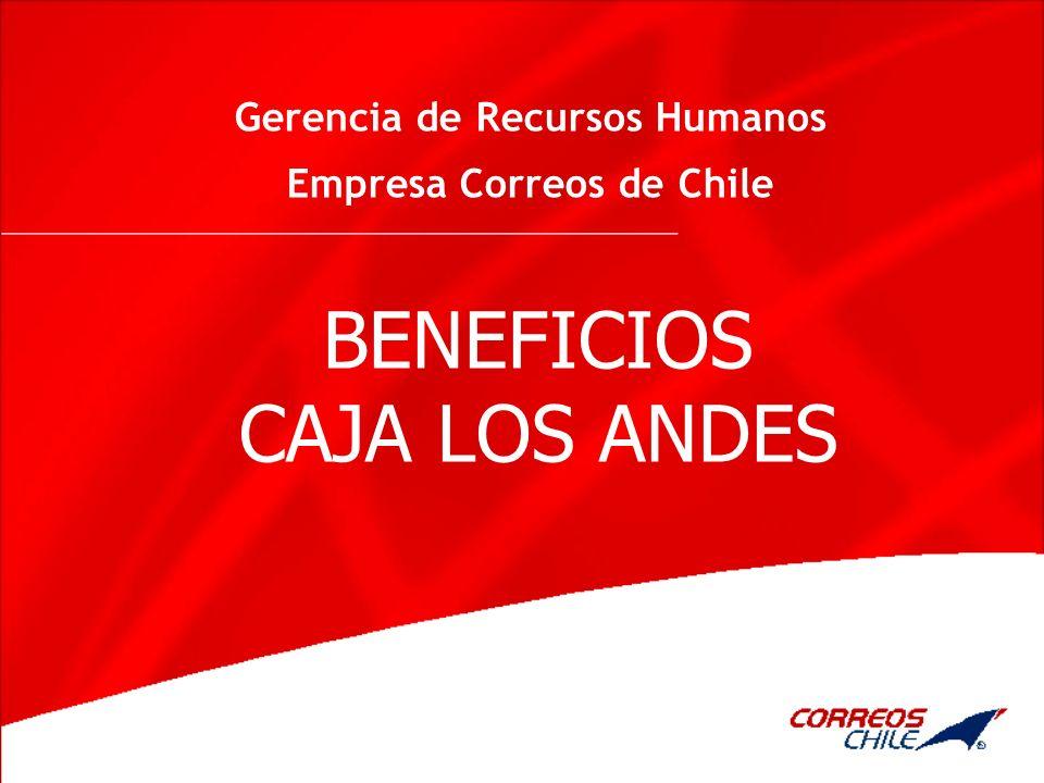 Gerencia de Recursos Humanos Empresa Correos de Chile BENEFICIOS CAJA LOS ANDES