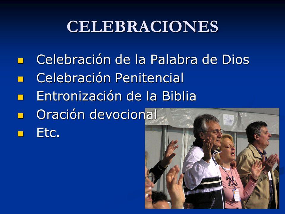 SUGERENCIAS Aprovechar los tiempos litúrgicos fuertes: Adviento-Navidad, Cuaresma-Pascua, Fiestas Patronales, para impulsar esta primera etapa.