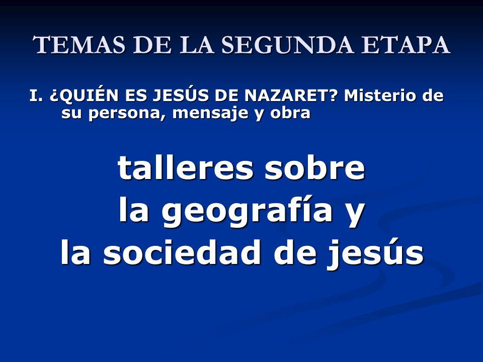 TEMAS DE LA SEGUNDA ETAPA EL REINO DE DIOS I. PARÁBOLAS DELREINO