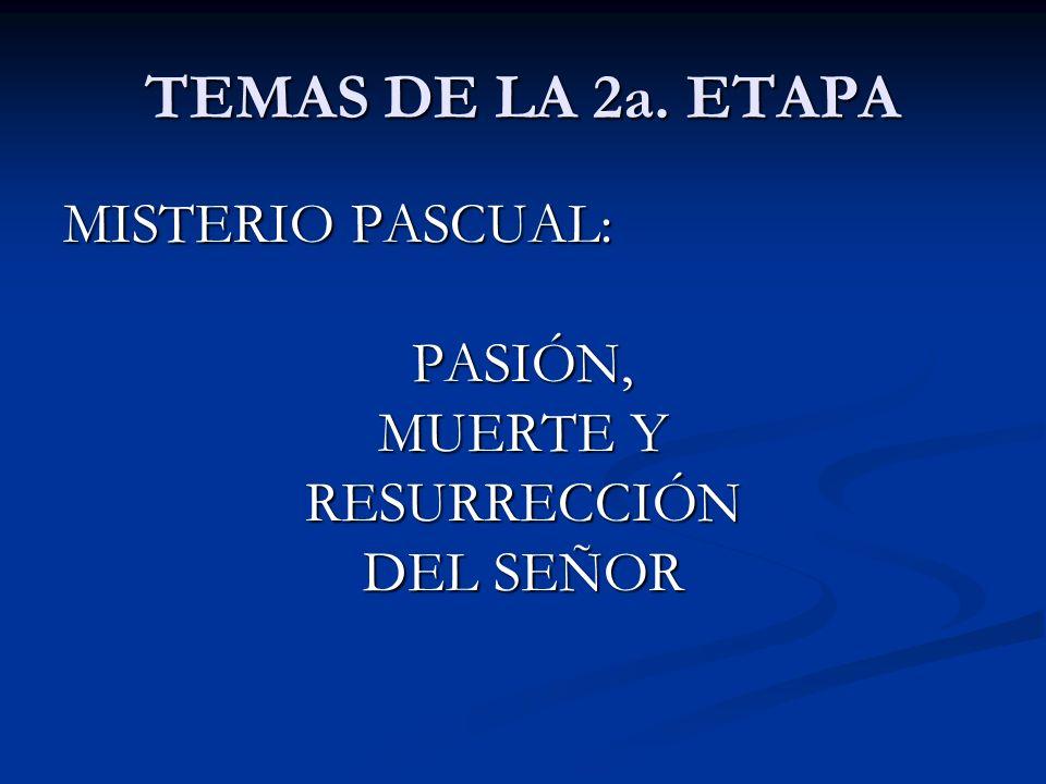 SIGNO DE LA SEGUNDA ETAPA: Entrega del Credo (que sea un cuadro y no una hoja simple) Entrega del Credo (que sea un cuadro y no una hoja simple)