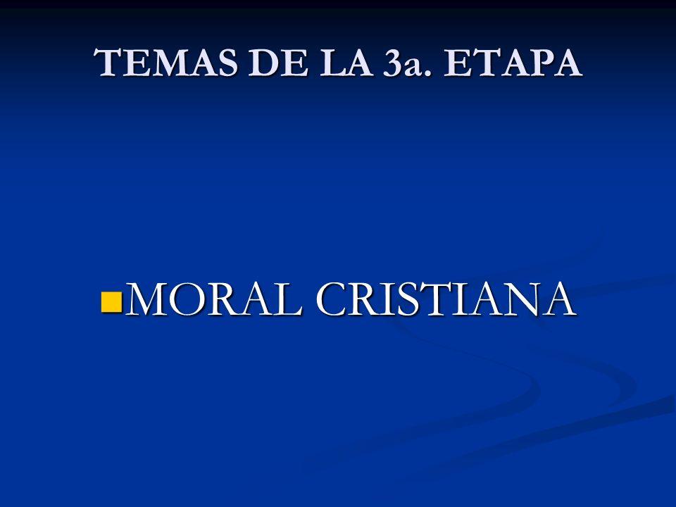 TEMAS DE LA TERCERA ETAPA ORACIÓN CRISTIANA 1.La oración de Jesús en los evangelios.