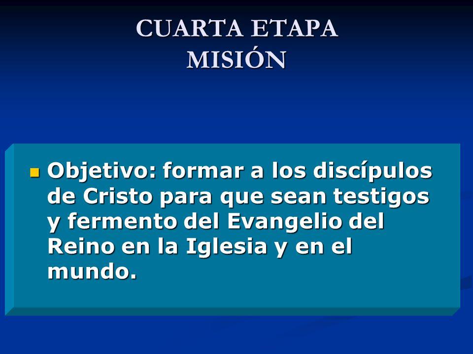 DESCRIPCIÓN DE ESTA ETAPA Organización y coordinación de la vida comunitaria en todas las secciones.