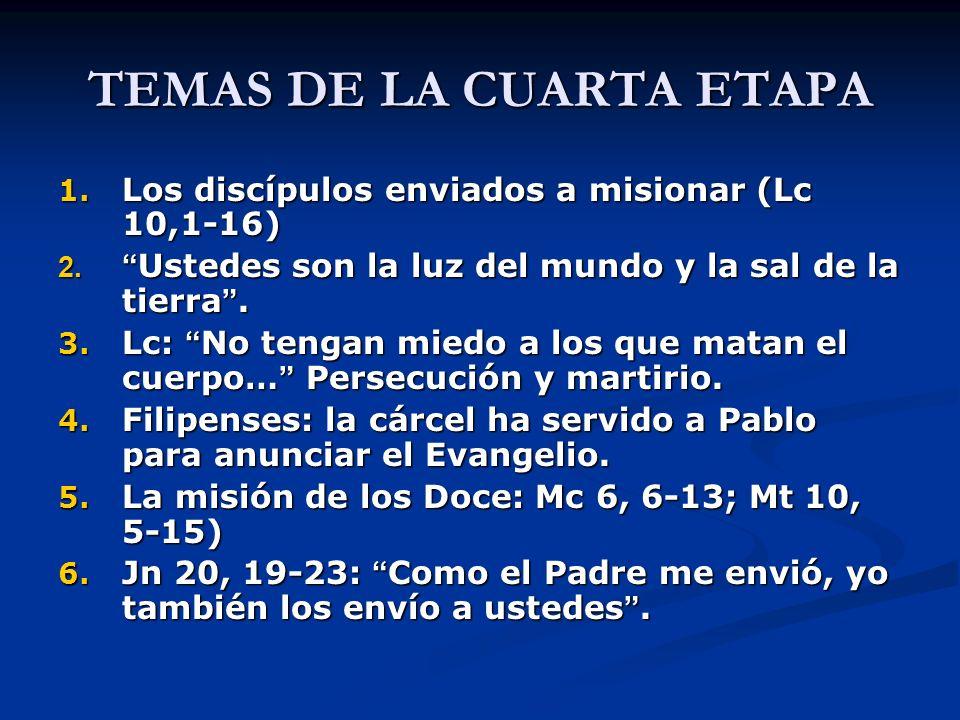 TEMAS DE LA CUARTA ETAPA 7.