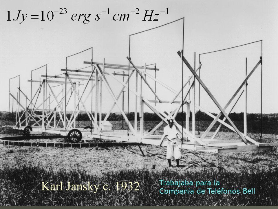 Karl Jansky c. 1932 Trabajaba para la Companía de Teléfonos Bell