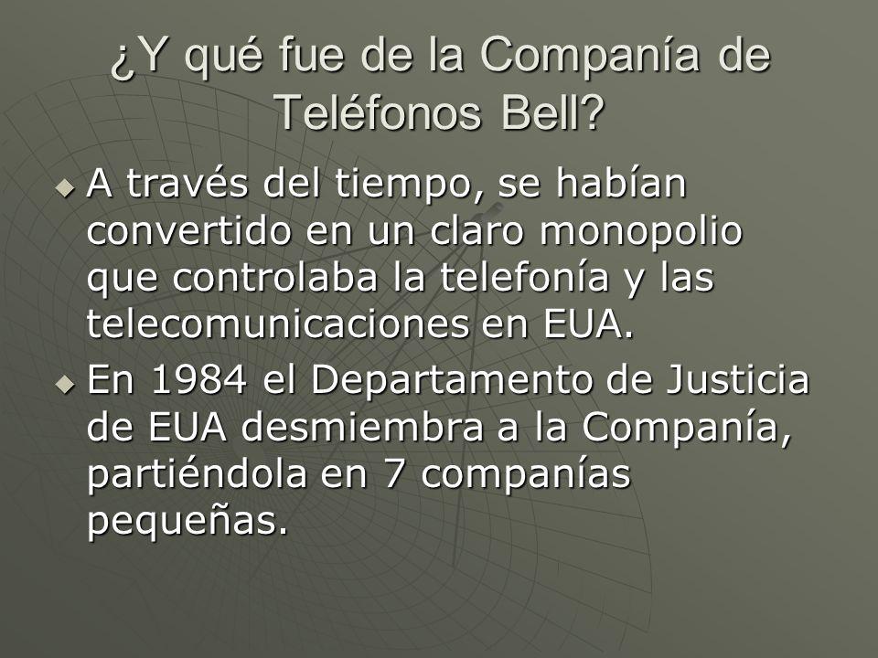 ¿Y qué fue de la Companía de Teléfonos Bell? A través del tiempo, se habían convertido en un claro monopolio que controlaba la telefonía y las telecom