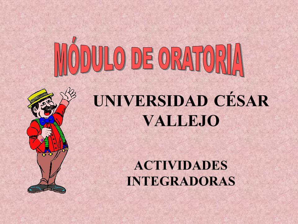 UNIVERSIDAD CÉSAR VALLEJO ACTIVIDADES INTEGRADORAS