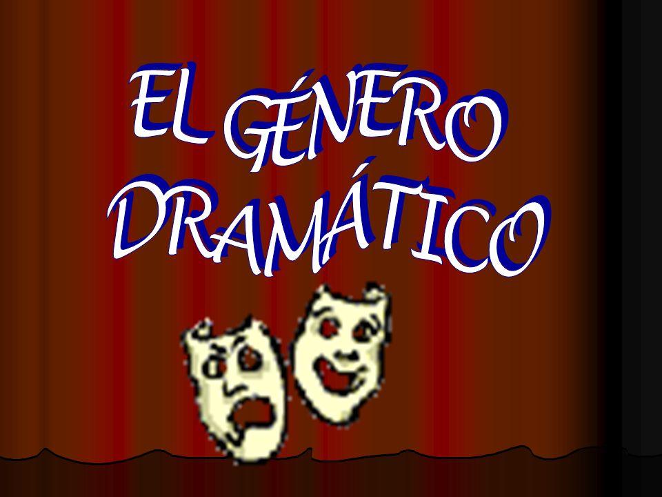 EL MUNDO DRAMÁTICO Es una realidad creada por un dramaturgo; Se presenta directamente al receptor (lector, espectador) a través del diálogo de los personajes; Tiene un eje central, que es: LA ACCIÓN y EL CONFLICTO DRAMÁTICO.