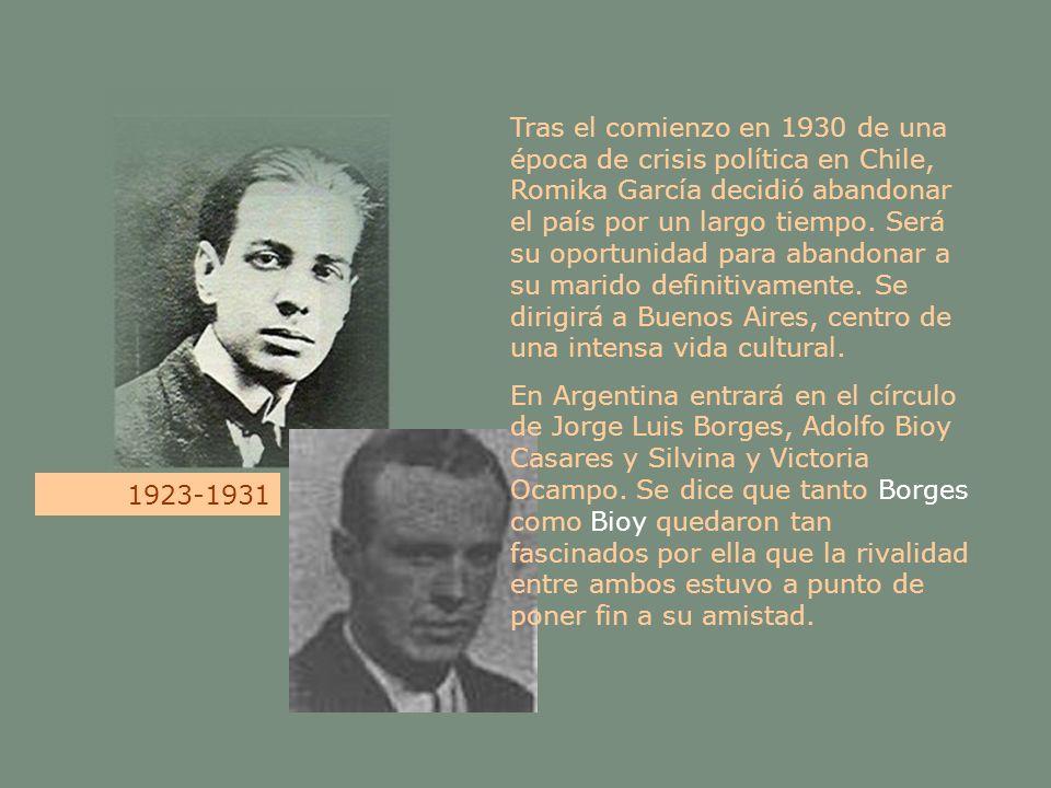 Tras el comienzo en 1930 de una época de crisis política en Chile, Romika García decidió abandonar el país por un largo tiempo. Será su oportunidad pa