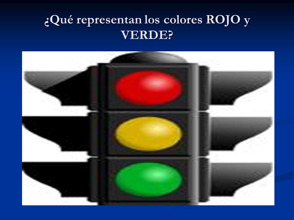 ¿Qué representan los colores ROJO y VERDE?