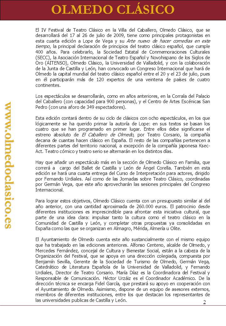 OLMEDO CLÁSICOwww.olmedoclasico.es Francisco Rico (Universidad Autónoma de Barcelona.