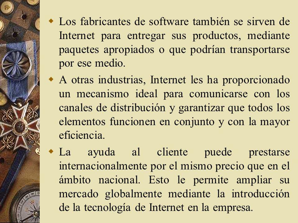 Logística de salida Correo electrónico. Internet tiene el poder de influir en las capacidades de salida de una compañía al permitir que el producto se
