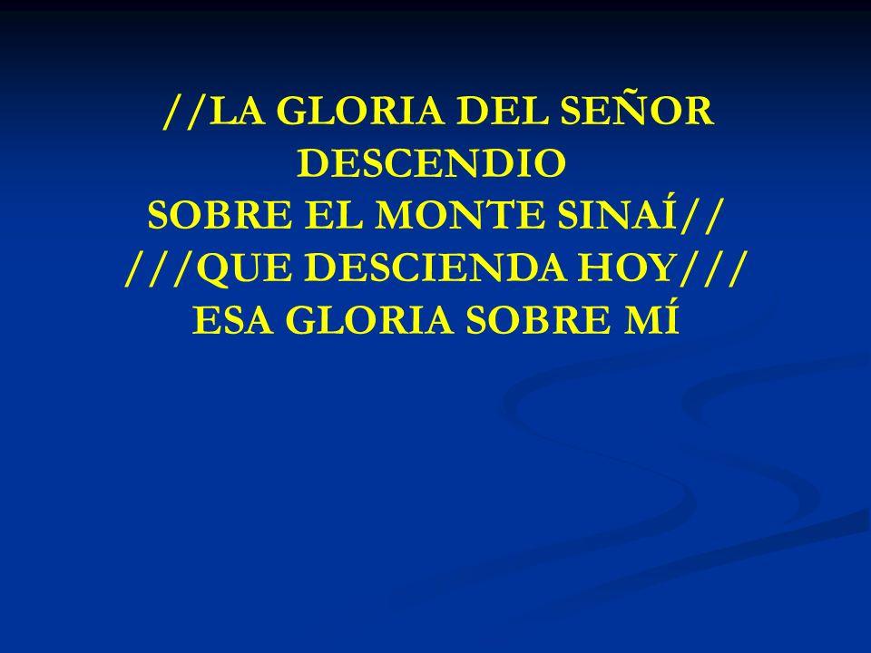 LA GLORIA DEL SEÑOR //LA GLORIA DEL SEÑOR DESCENDIO SOBRE EL MONTE SINAÍ// ///QUE DESCIENDA HOY/// ESA GLORIA SOBRE MÍ