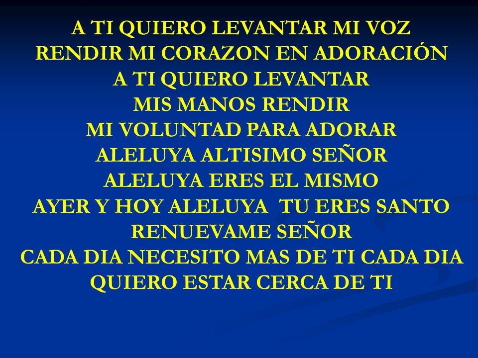 LEVANTATE, LEVANTATE SEÑOR //LEVANTATE LEVANTATE SEÑOR// HUYAN DELANTE DE TI TUS ENEMIGOS SE DISPERSEN DELANTE DE TI TODOS AQUELLOS QUE ABORRECEN TU PRESENCIA TU PRESENCIA REINARÁ SOBRE TODO IMPERIO TU PRESENCIA REINARÁ GOBERNARÁ SOBRE TODO PRINCIPADO LEVANTATE SEÑOR