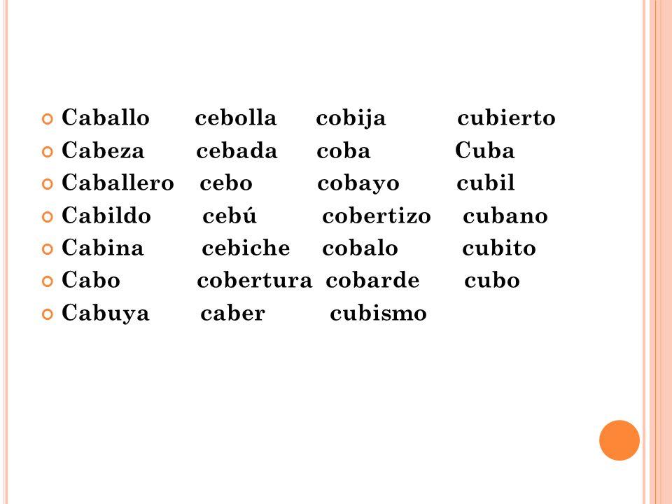 Palabras Silabas ca co cu Las Silabas ca ce co cu