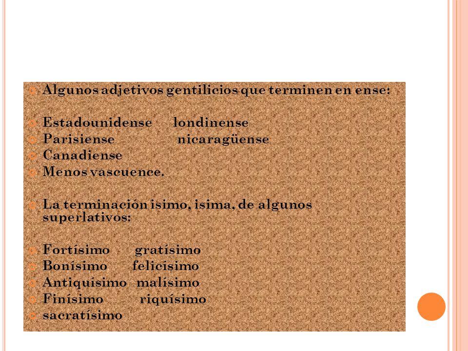 EMPLEO DE LA LETRA S Se escribe con s (y no z) las terminaciones esa e isa que desempeñen oficio o dignidad de mujeres: Sacerdotisa abadesa Diaconisa condesa Poetisa alcaldesa Los adjetivos que terminan en aso, eso, oso, uso: Craso espeso confuso Escaso celoso difuso Travieso perezoso profuso Las palabras que terminan en ulsion: Propulsión avulsión Convulsión impulsión Expulsión revulsión Emulsión