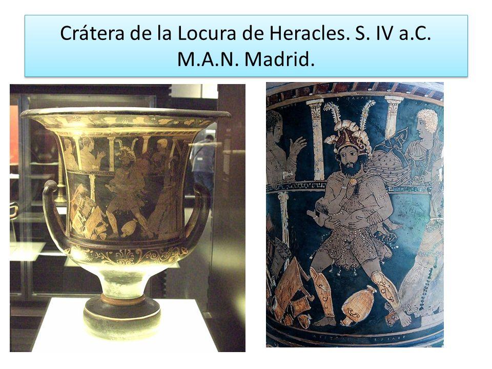 Crátera de la Locura de Heracles. S. IV a.C. M.A.N. Madrid.