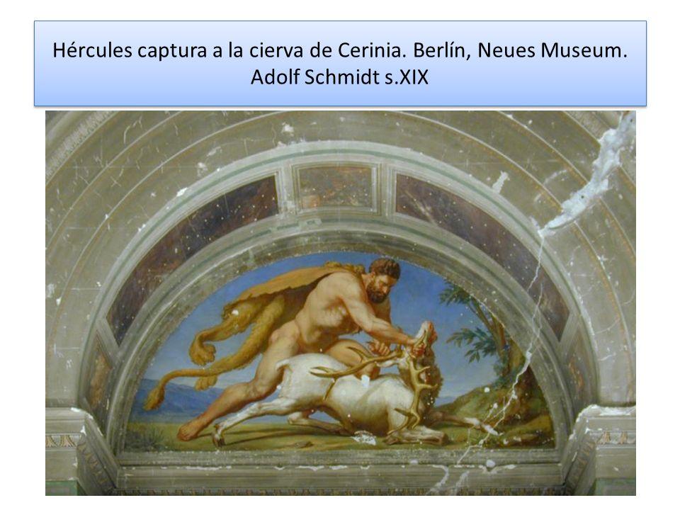 Hércules captura a la cierva de Cerinia. Berlín, Neues Museum. Adolf Schmidt s.XIX