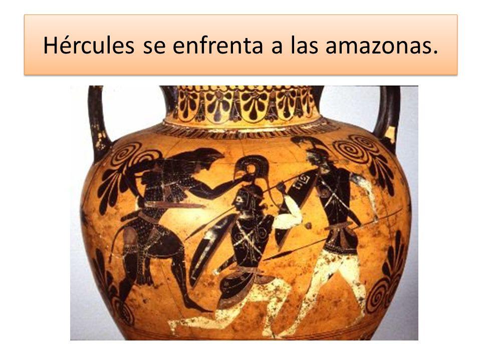 Hércules se enfrenta a las amazonas.