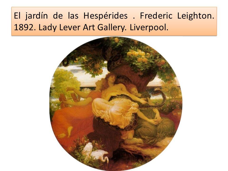 El jardín de las Hespérides. Frederic Leighton. 1892. Lady Lever Art Gallery. Liverpool.