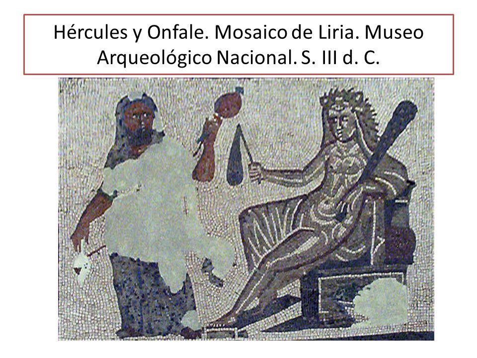 Hércules y Onfale. Mosaico de Liria. Museo Arqueológico Nacional. S. III d. C.