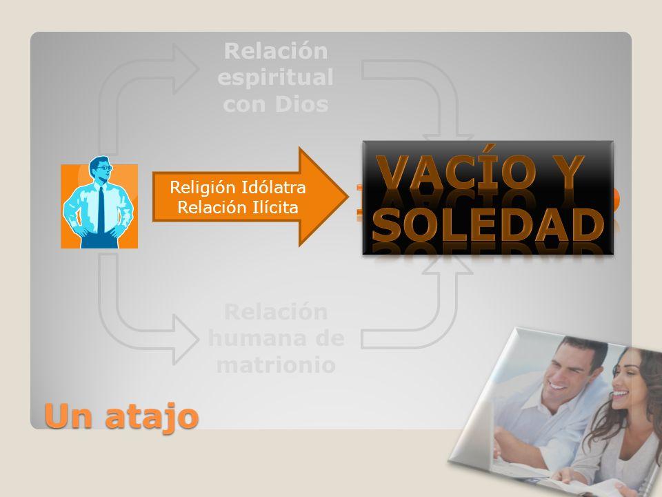 Un atajo Relación espiritual con Dios Relación humana de matrionio Religión Idólatra Relación Ilícita