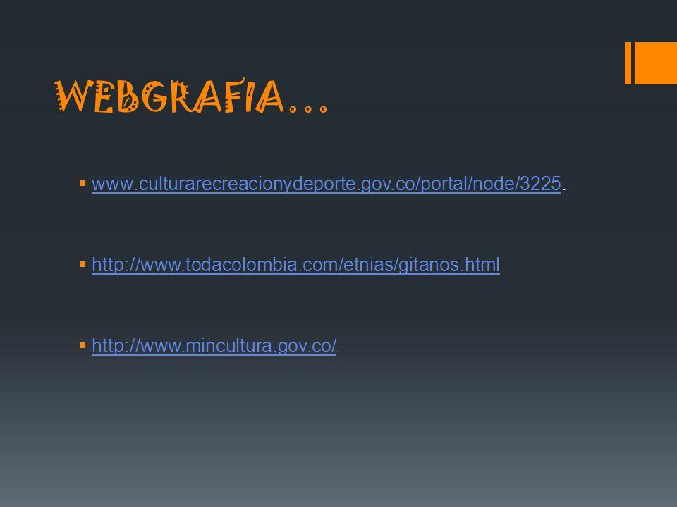 WEBGRAFIA… www.culturarecreacionydeporte.gov.co/portal/node/3225. www.culturarecreacionydeporte.gov.co/portal/node/3225 http://www.todacolombia.com/et