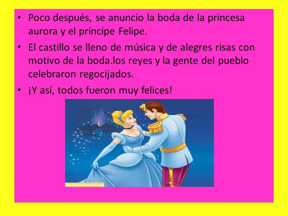 Finalmente, Felipe llego a la torre y encontró a la bella durmiente. El príncipe la beso con amor, ¡entonces Aurora despertó!. De inmediato todos reco