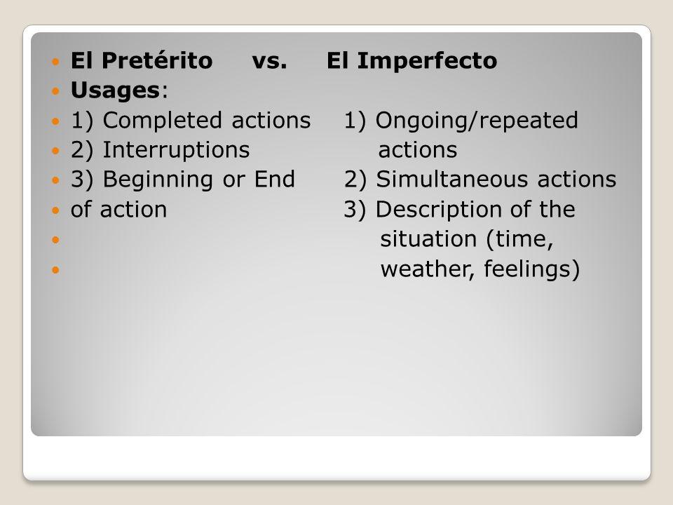 Preterite RED LIGHT endings Ar Ending Er/Ir Ending - é - í - aste - iste - ó - ió - amos - imos - aron - ieron