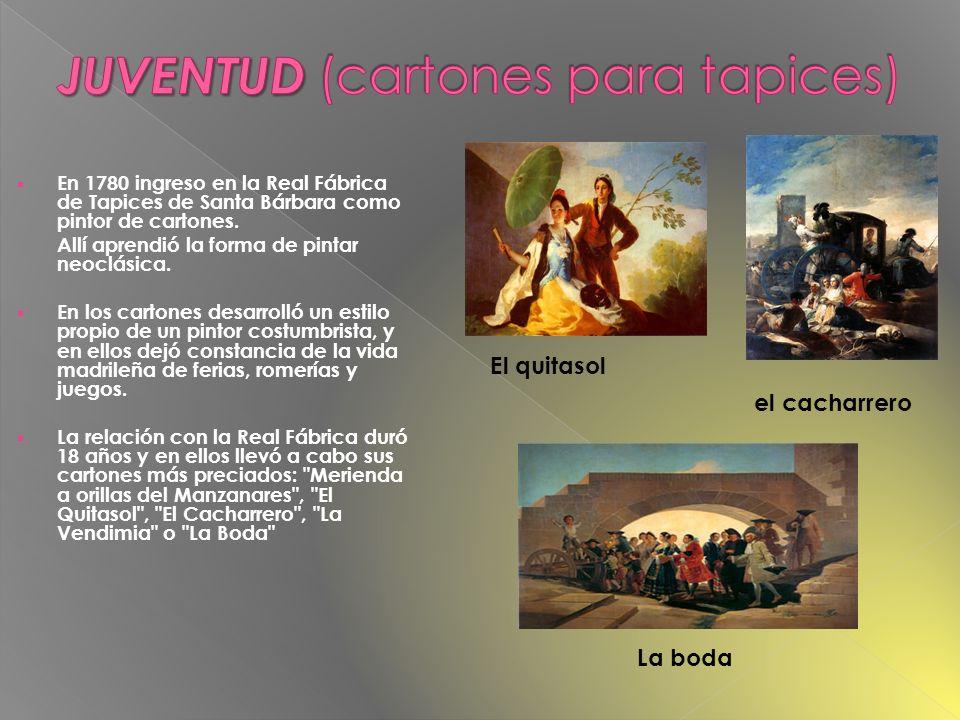 En 1780 ingresó en la Academia de San Fernando, tras la prueba de pintar Cristo en la cruz.