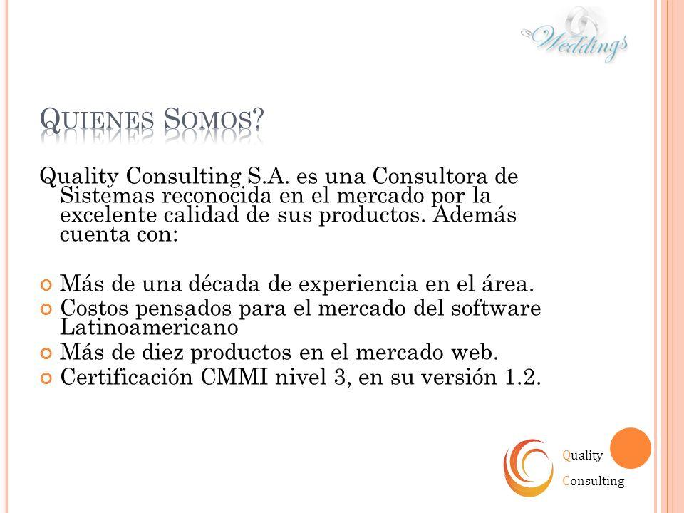 Quality Consulting S.A. es una Consultora de Sistemas reconocida en el mercado por la excelente calidad de sus productos. Además cuenta con: Más de un