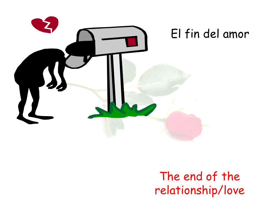 El fin del amor The end of the relationship/love