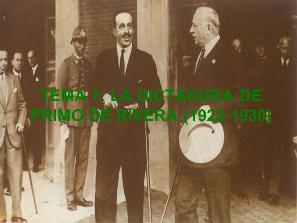 D I R E C T O R I O C I V I L INTENTO DE INSTITUCIONALIZACIÓN ASAMBLEA NACIONAL CONSULTIVA (1927) ELABORACIÓN PROYECTO CONSTITUCIÓN FORMADA MAYORITARIAMENTE POR MIEMBROS UNIÓN PATRIÓTICA Y ASAMBLEA NACIONAL CONSULTIVA ESCASO APOYO POPULAR NO FACILITAN COBERTURA LEGAL A LA DICTADURA