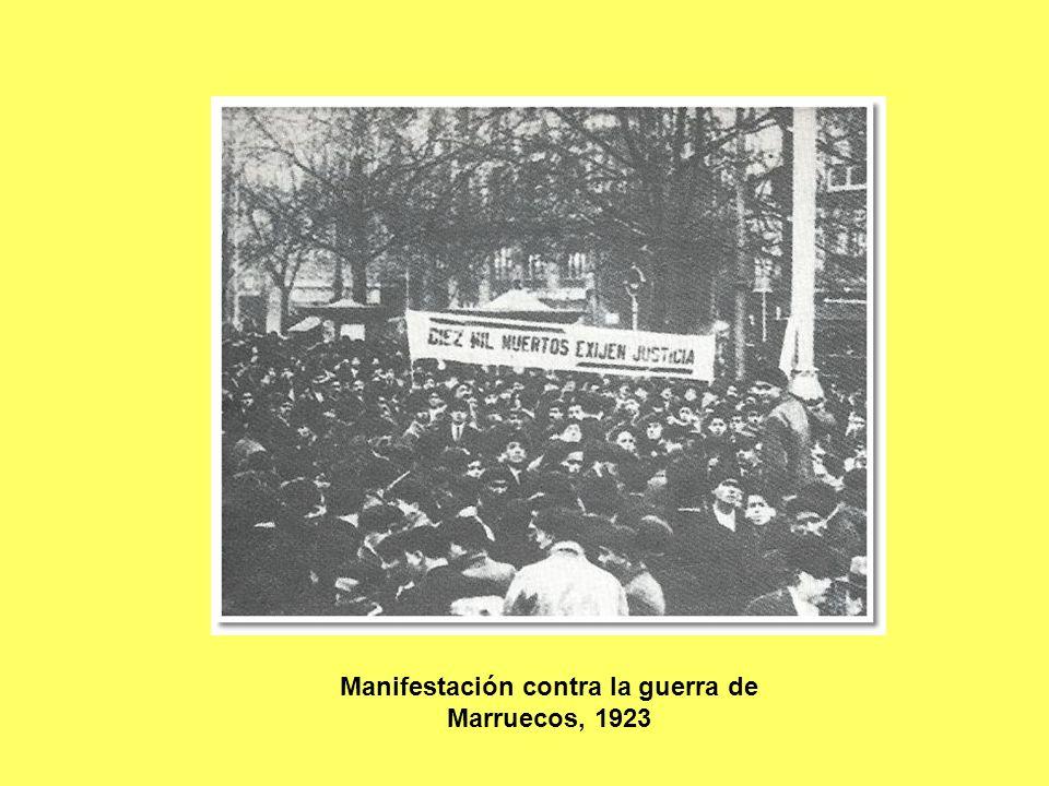 Manifestación contra la guerra de Marruecos, 1923