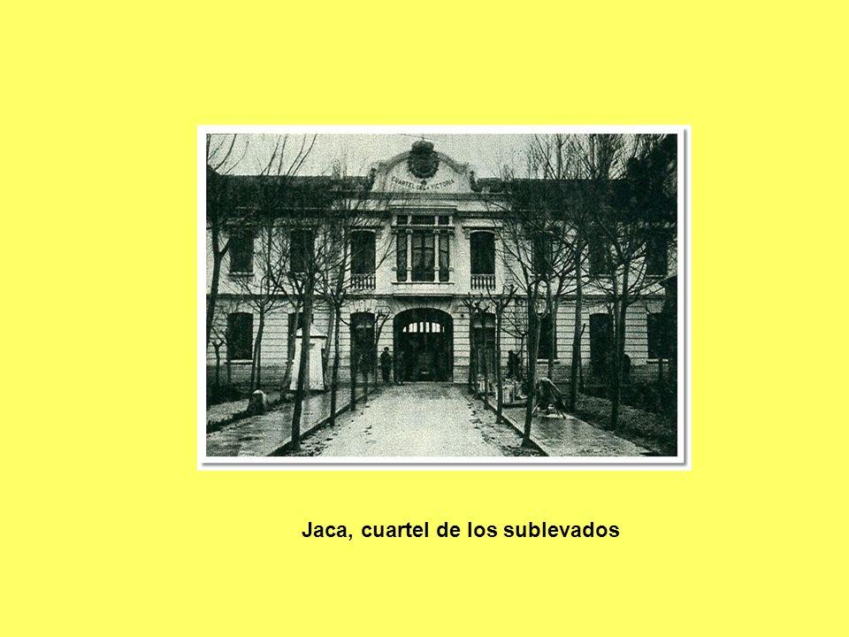 Jaca, cuartel de los sublevados