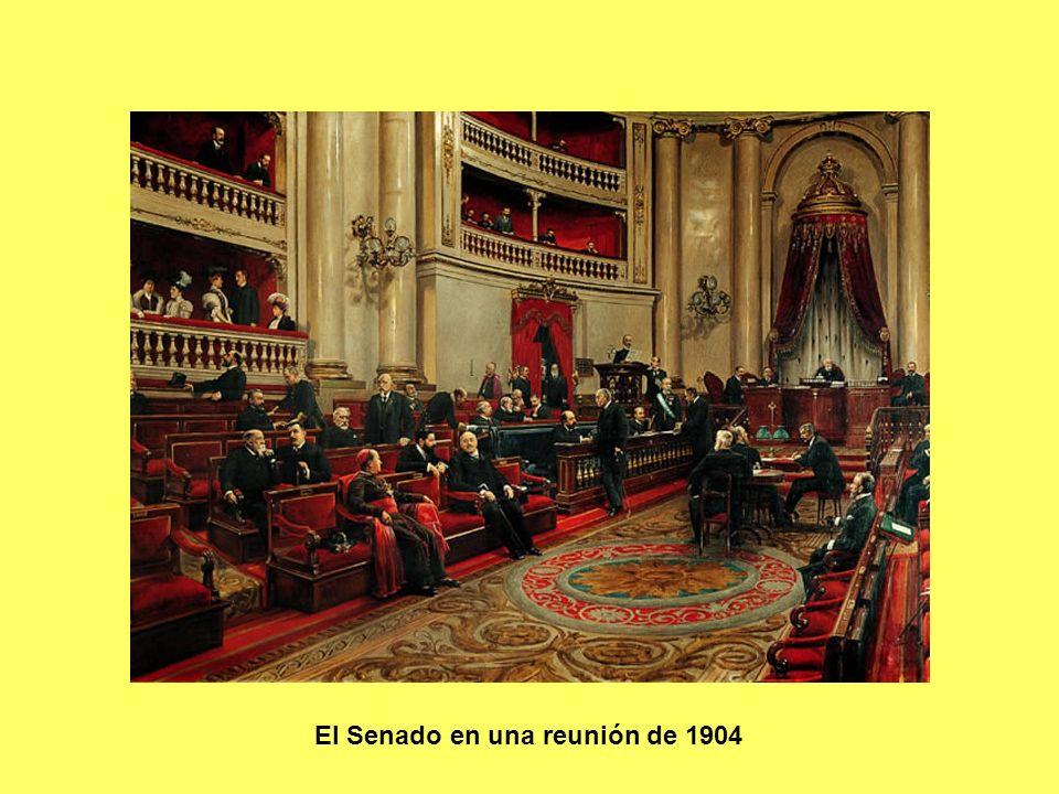 El Senado en una reunión de 1904
