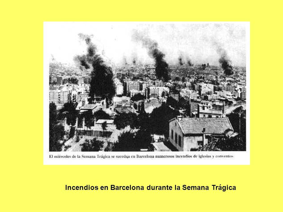 Incendios en Barcelona durante la Semana Trágica