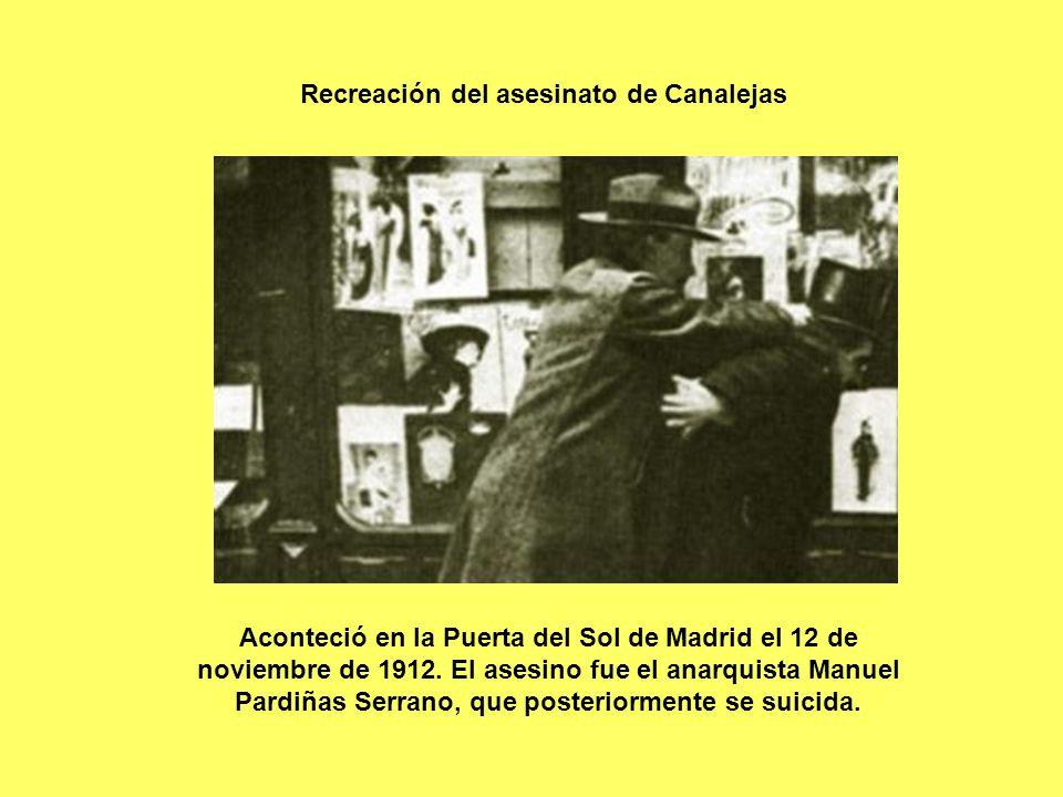 Aconteció en la Puerta del Sol de Madrid el 12 de noviembre de 1912. El asesino fue el anarquista Manuel Pardiñas Serrano, que posteriormente se suici
