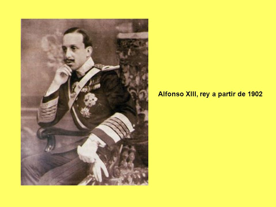 Eduardo Dato (conservador), jefe de gobierno al desencadenarse la I Guerra Mundial La Coruña 1856 - Madrid 8-3-1921 Dato despachando con Alfonso XIII