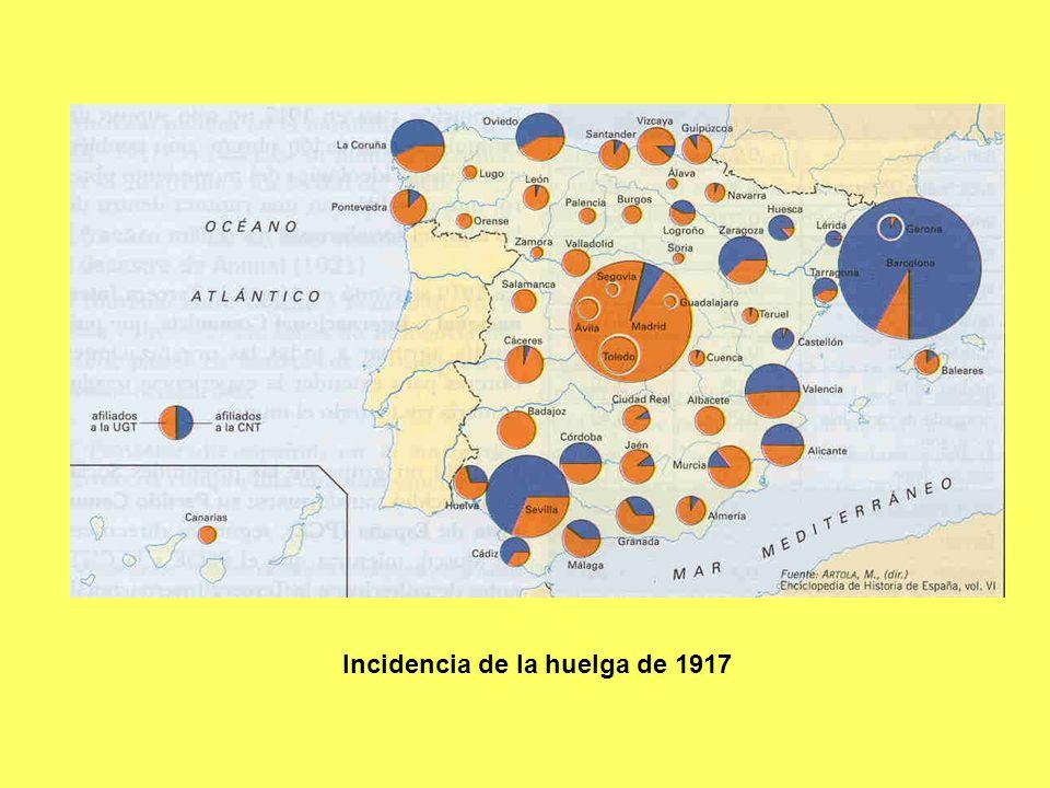Incidencia de la huelga de 1917
