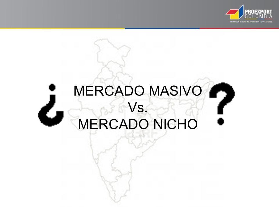 MERCADO MASIVO Vs. MERCADO NICHO