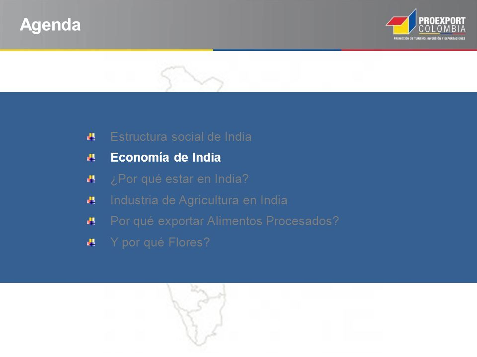 Agenda Estructura social de India Economía de India ¿Por qué estar en India.