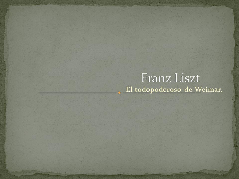 Liszt realiza un estudio sobre el carácter de los personajes principales de la obra de Goethe: Fausto, Margarita y Mefistófeles.