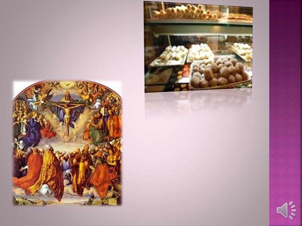 La fiesta más grande es Todos los Santos, y es un tiempo muy especial. Esta festividad es en el otoño, cuando las plantas, los árboles, los animales,