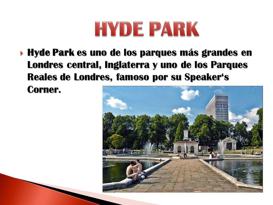 Hyde Park es uno de los parques más grandes en Londres central, Inglaterra y uno de los Parques Reales de Londres, famoso por su Speakers Corner. Hyde